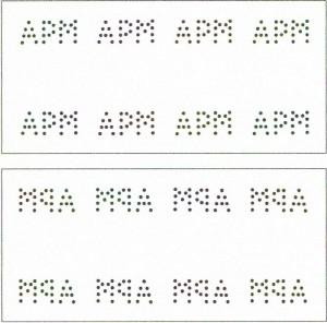 A.P. Møller ( sæts perforator med initialerne APM