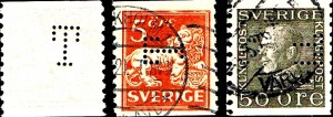 Ud over de ovennævnte Afa-numre 190 og 193, er perfinnummer T1 perfinbilledet T fundet og registreret på Afa-Nr. 141, 5 øre brun type I… U, 1921. Takket10 lodret. Uden vandmærke og Afa-Nr. 148, 50 øre grå… Y, 1921. Kong Gustav V. Tk. 10 lodret. Uden vm.
