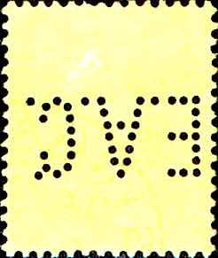 4) Perfinbilledet EAC 4, Straits Settlements / Singapore, SG 132 / 37 / 10c. lilla / sort / gul, 1902. Stilling 7.